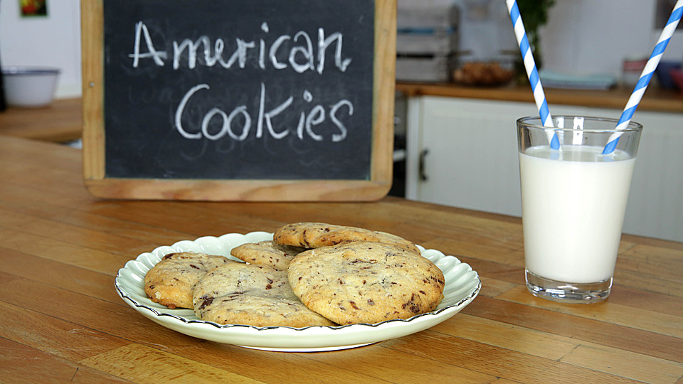 american cookies double chocolate chip cookies rezept mit bild. Black Bedroom Furniture Sets. Home Design Ideas