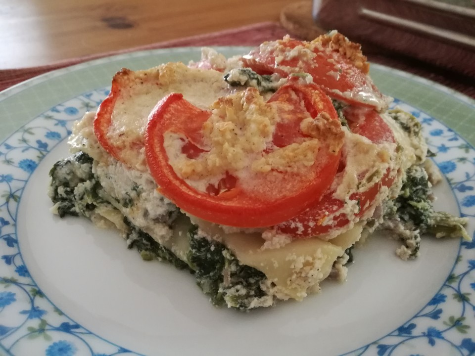 vegane spinat cashew lasagne rezept mit bild von cookiemieze. Black Bedroom Furniture Sets. Home Design Ideas