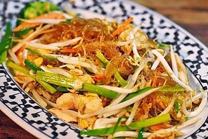 Chinesisch-gebratene Nudeln mit Rindfleisch 1