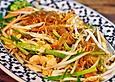 Chinesisch-gebratene Nudeln mit Rindfleisch