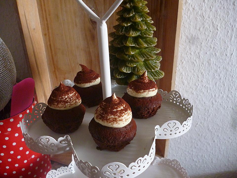 schoko lebkuchen cupcakes mit leckerer mascarponecreme rezept mit bild. Black Bedroom Furniture Sets. Home Design Ideas