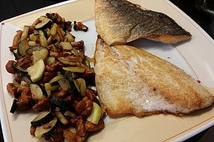 Zucchini-Pilz-Schafskäse-Pfanne (Bild)