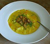Blumenkohl-Möhren-Suppe mit Kartoffeln