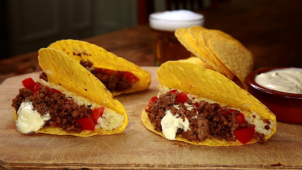 mais tacos mit kokos limettenreis und hackfleisch rezept mit bild. Black Bedroom Furniture Sets. Home Design Ideas