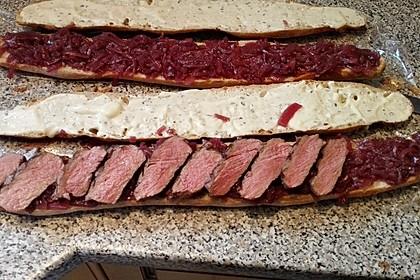 Steaksandwich mit Zwiebelmarmelade 7