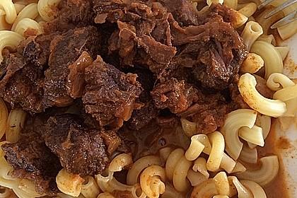 Rindergulasch im Schnellkochtopf 1