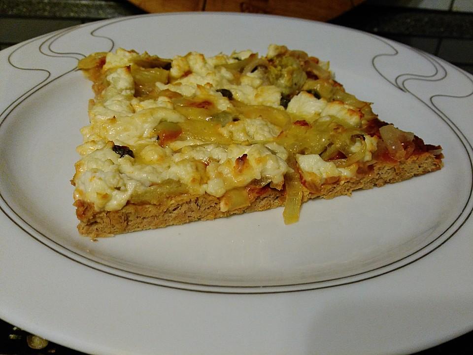 mediterrane thunfischpizza ohne mehl von binis. Black Bedroom Furniture Sets. Home Design Ideas