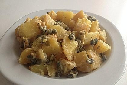 Vegetarische Kartoffel-Kapern-Pfanne