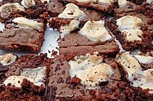 Brownies mit Marshmallows