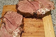 Rinderbraten mit Rotweinsauce für 20 Personen