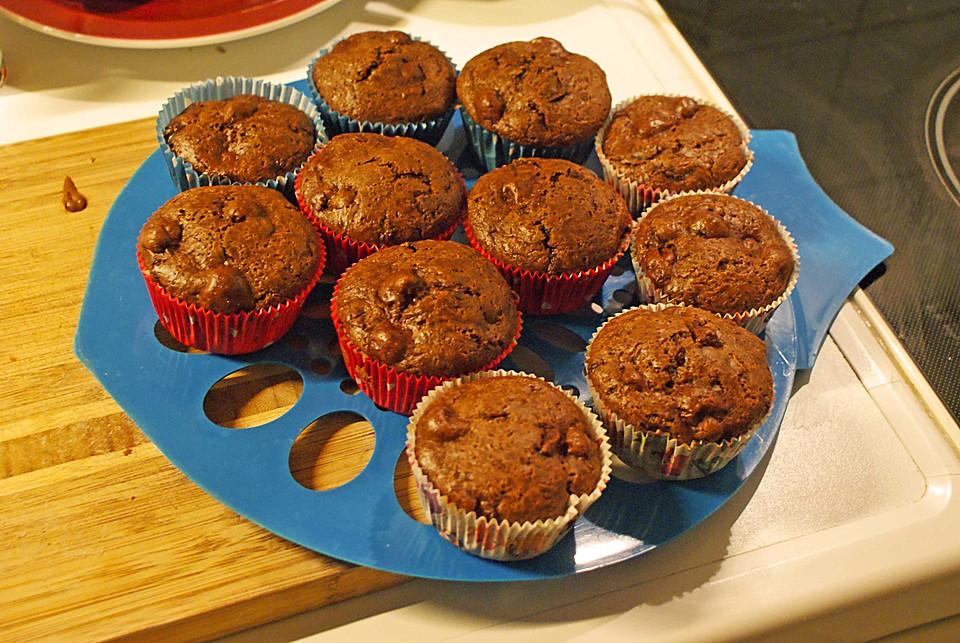 vegane muffins mit schokost ckchen rezept mit bild. Black Bedroom Furniture Sets. Home Design Ideas