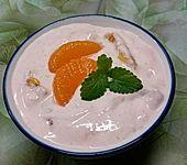 Mandarinendessert im Glas (Bild)