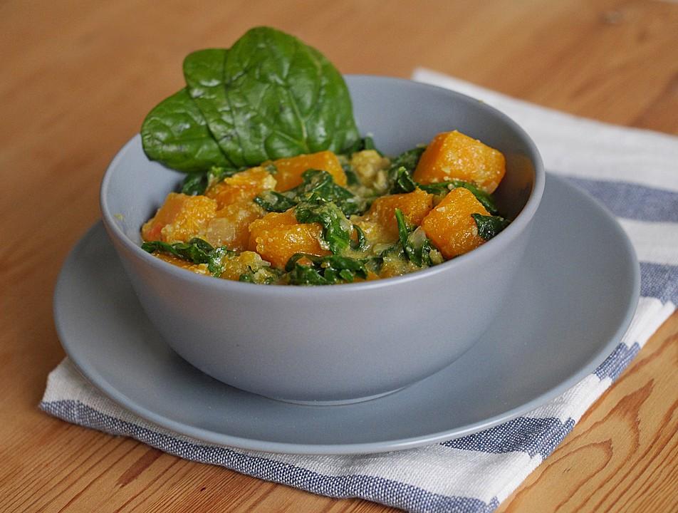 Kürbis-Spinat-Curry (Rezept Mit Bild) Von Ars_Vivendi | Chefkoch.De