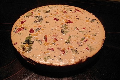 Vegetarische Brokkoli-Mais-Quiche