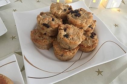 Weihnachtliche Stollen-Muffins-Backmischung im Geschenkglas