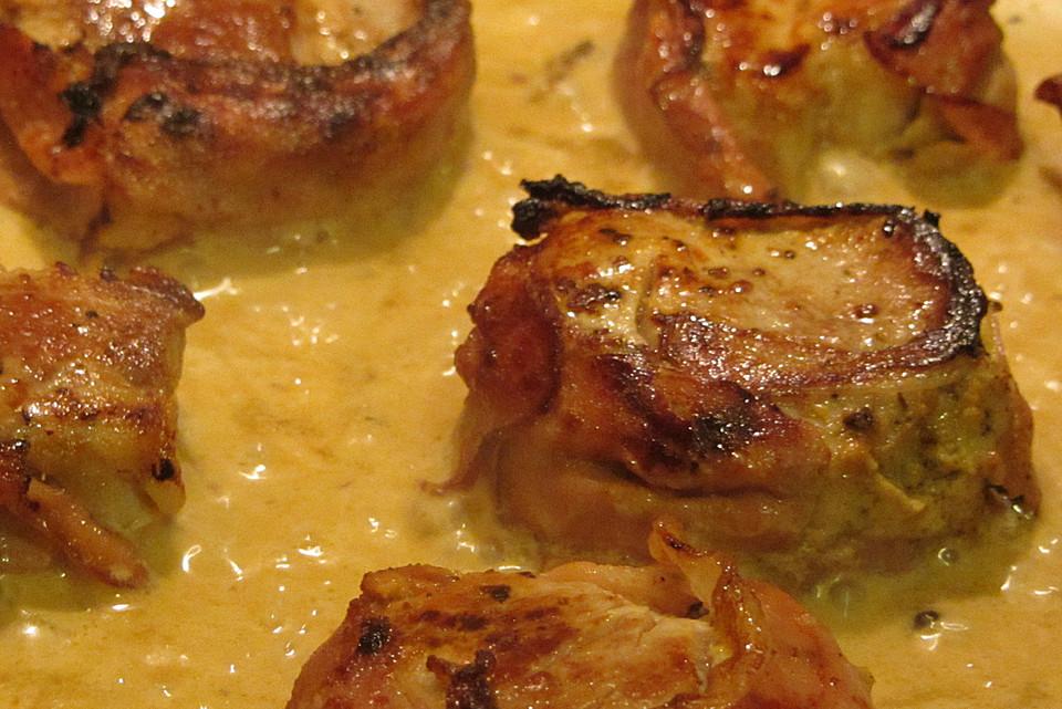 schweinefilet mit gorgonzola wei wein sauce rezept mit bild. Black Bedroom Furniture Sets. Home Design Ideas