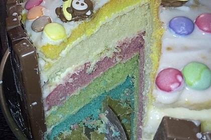 Bunter Kit-Kat-Geburtstagskuchen mit Frischkäsecreme 13