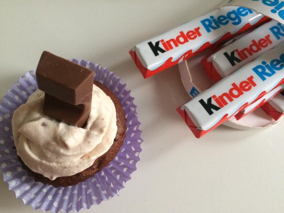 kinderschokoladen cupcakes von lisa n. Black Bedroom Furniture Sets. Home Design Ideas
