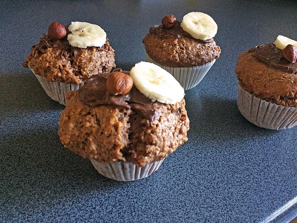 nutella bananen muffins rezept mit bild von si22. Black Bedroom Furniture Sets. Home Design Ideas