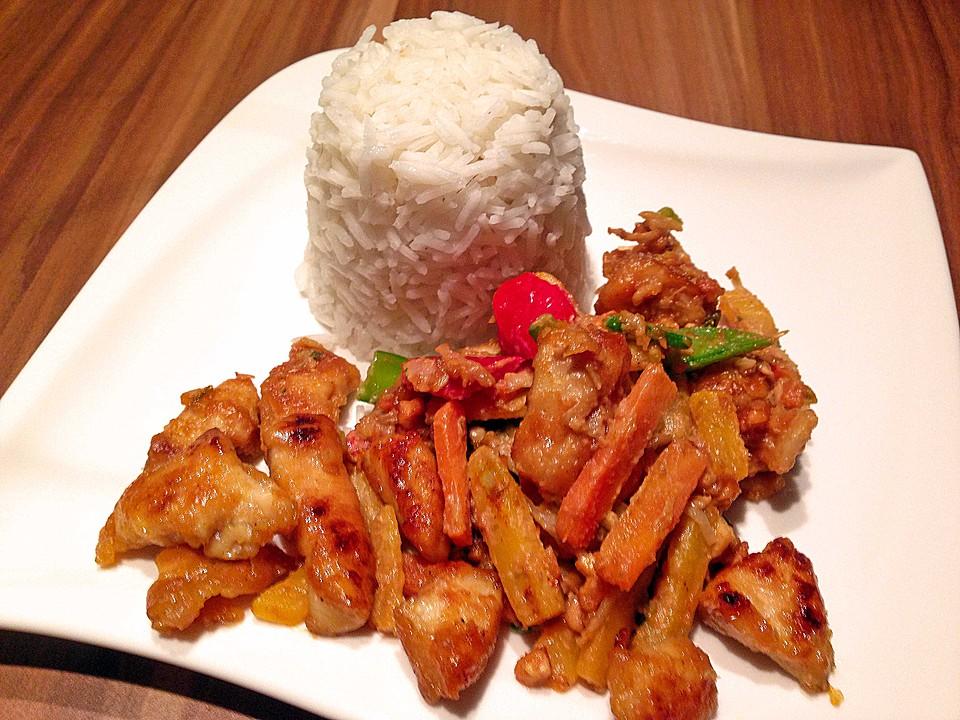 asia h hnchen gem se mit erdnusssauce aus dem wok rezept mit bild. Black Bedroom Furniture Sets. Home Design Ideas