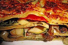 Veggie Lasagne mit viel Gemüse und Béchamelsauce