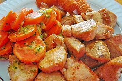 Knusprige Hähnchenbrust mit Möhrengemüse 1