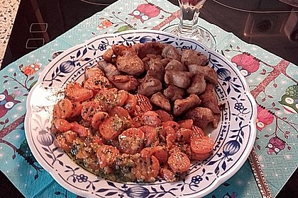 Knusprige Hähnchenbrust mit Möhrengemüse 4