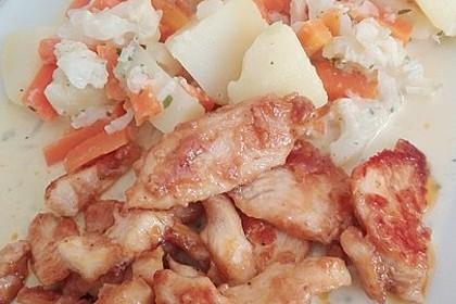 Knusprige Hähnchenbrust mit Möhrengemüse 9