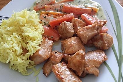 Knusprige Hähnchenbrust mit Möhrengemüse 10