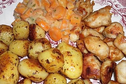 Knusprige Hähnchenbrust mit Möhrengemüse 3