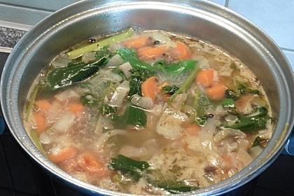 Gemüsebrühe, klar und sehr fettarm, ein Grundrezept 7