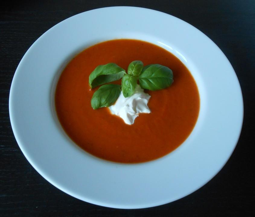 tomatensuppe aus frischen tomaten rezept mit bild. Black Bedroom Furniture Sets. Home Design Ideas