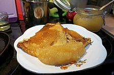 Vegane Pfannkuchen, die wie Eierpfannkuchen schmecken