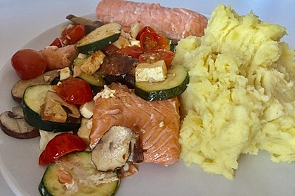 Low Carb Lachs mit Ofengemüse 78