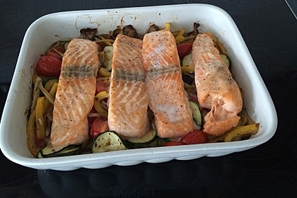 Low Carb Lachs mit Ofengemüse 129