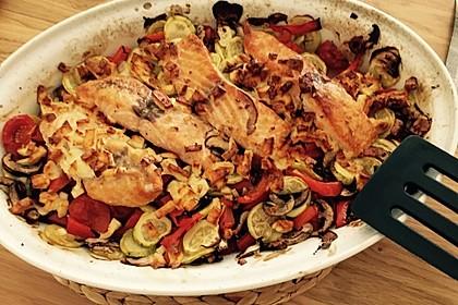 Low Carb Lachs mit Ofengemüse 95