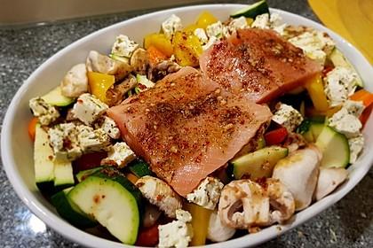 Low Carb Lachs mit Ofengemüse 10