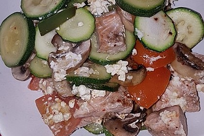 Low Carb Lachs mit Ofengemüse 97