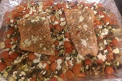Low Carb Lachs mit Ofengemüse 86