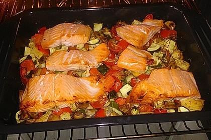 Low Carb Lachs mit Ofengemüse 5
