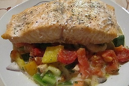 Low Carb Lachs mit Ofengemüse 9