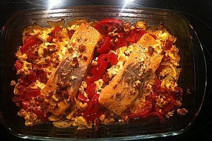 Low Carb Lachs mit Ofengemüse 101