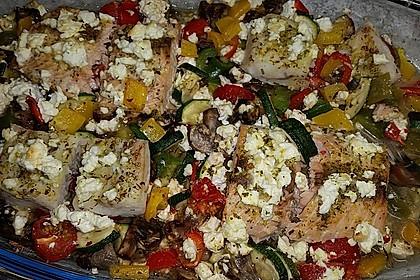 Low Carb Lachs mit Ofengemüse 126