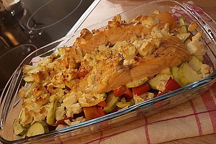 Low Carb Lachs mit Ofengemüse 67