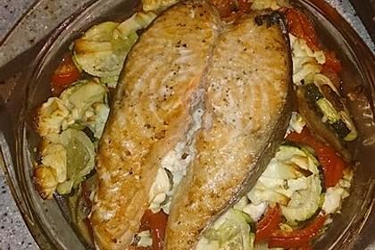Low Carb Lachs mit Ofengemüse 85