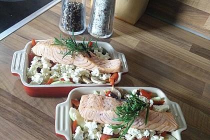 Low Carb Lachs mit Ofengemüse 4