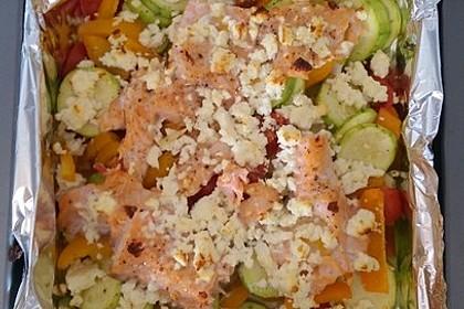 Low Carb Lachs mit Ofengemüse 45