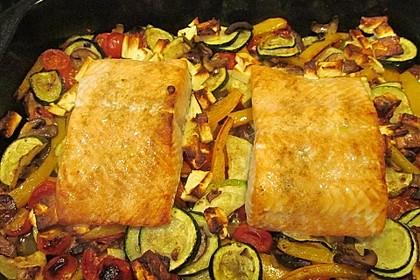 Low Carb Lachs mit Ofengemüse 140
