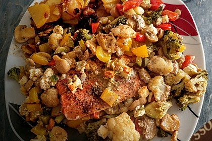 Low Carb Lachs mit Ofengemüse 21