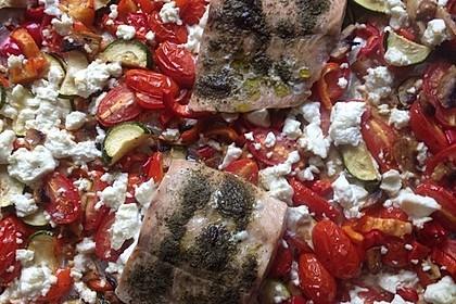 Low Carb Lachs mit Ofengemüse 109
